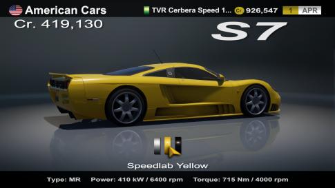 Saleen S7 Yellow